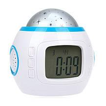 Часы с проектором звездного неба с будильником Music And Starry Sky Calendar , фото 2