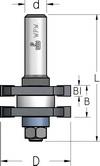 Фреза для соединения шип-паз, требующих разборки-сборки WPW Израиль D41-B19-L70-d8