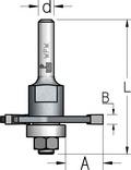 Оправка с комплектом подшипников под пазы различной глубины WPW Израиль D47,6-L78-d12