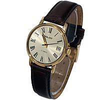 Poljot 17 jewels made in USSR позолоченные часы с датой -腕表 luch ultra slim