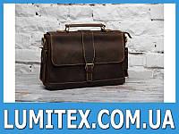 Мужской портфель - сумка из плотной кожи в классическом стиле