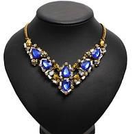 Ожерелье Синий принц/бижутерия/цвет цепочки бронза
