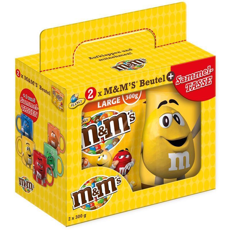 Подарочный набор M&M's с кружкой (арахис), 300г.