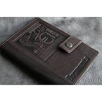 Кожаный бумажник CASH Мануфактура Гук (870-12-25)
