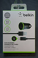 Зарядное устройство в авто BELKIN 1 USB (2.1A) Small 2 in 1 + Cable Micro