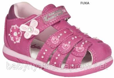 985f9ffc5 Детские польские босоножки с кожаной ортопед стелькой American club с  закрытым носком р.23-26 для девочек
