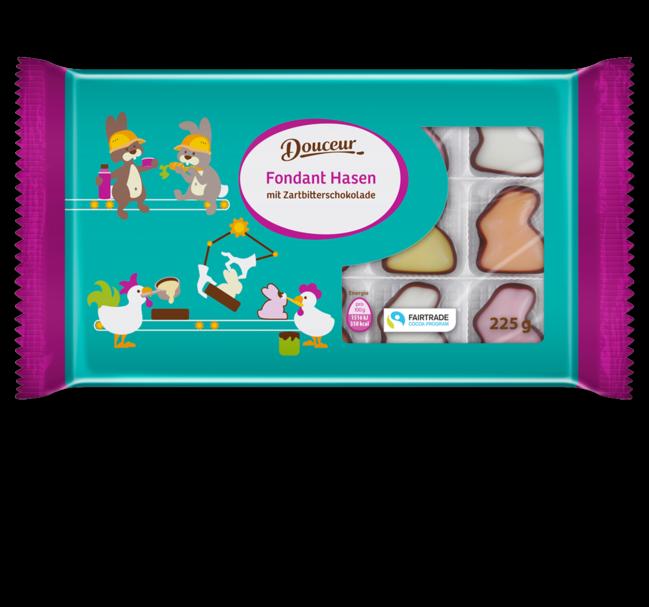 Шоколадные конфеты Douceur в форме зайчиков,  225 гр.