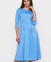 Расклешенное платье миди (2238 sk)