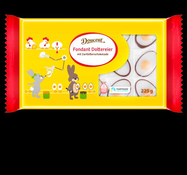 Шоколадные конфеты Douceur в форме яишницы глазуньи,  225 гр.