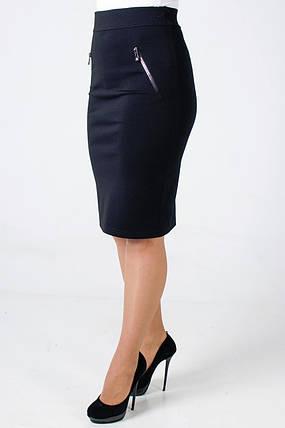 Женская юбка из трикотажа Алекс, с молнией, фото 2