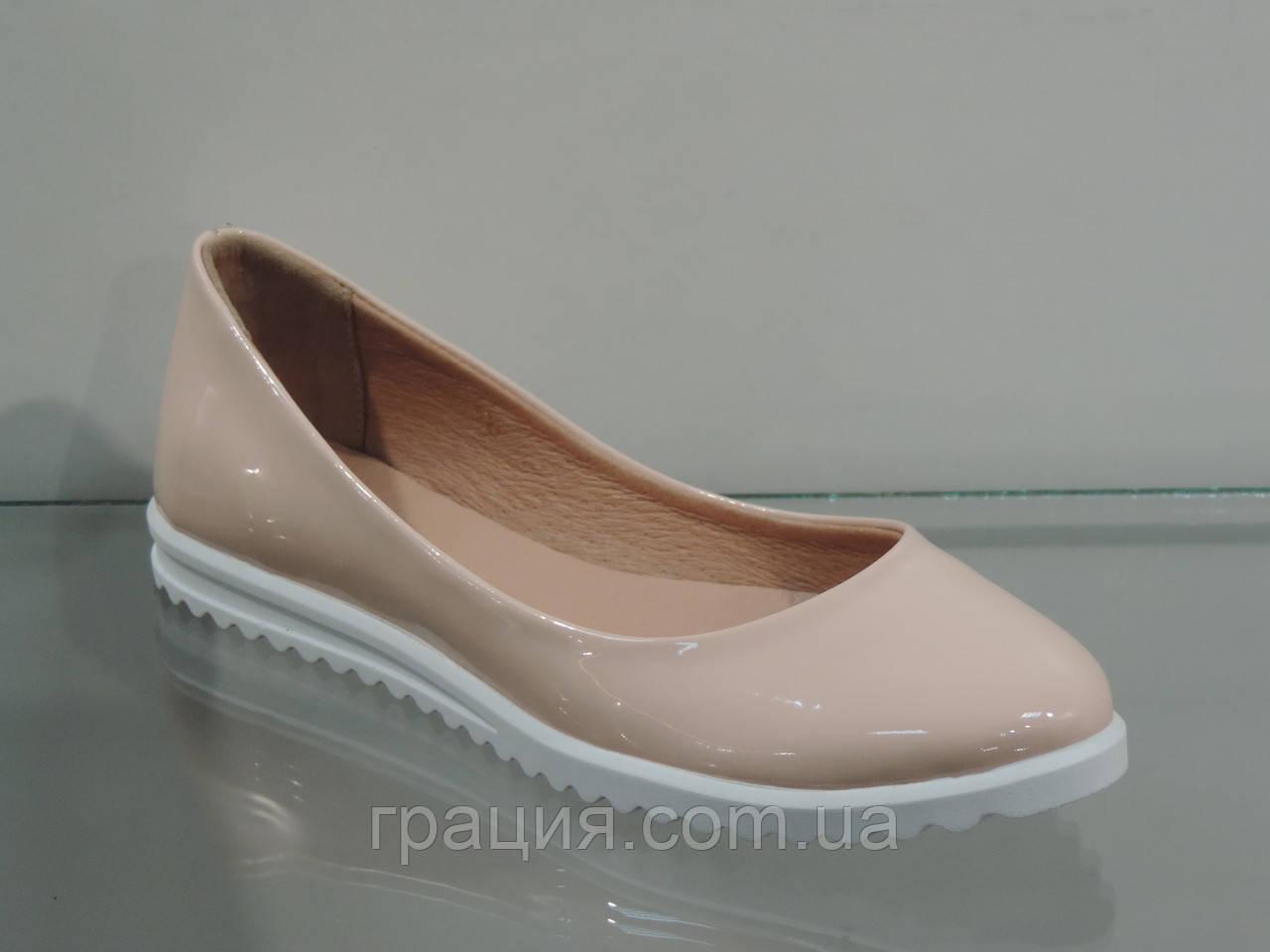 ee0c6ecb531c Модные женские бежевые лаковые балетки легкие удобные  продажа, цена ...