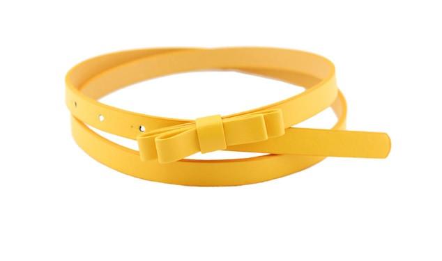 Пояс Бантик желтый/ цвет желтый/ материал PU