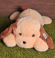 Мягкая игрушка Собака Тузик 100 см персиковый