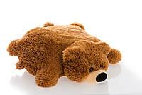 Подушка игрушка мишка 55 см коричневая