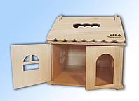 Домик деревянный кукольный для  детского творчества