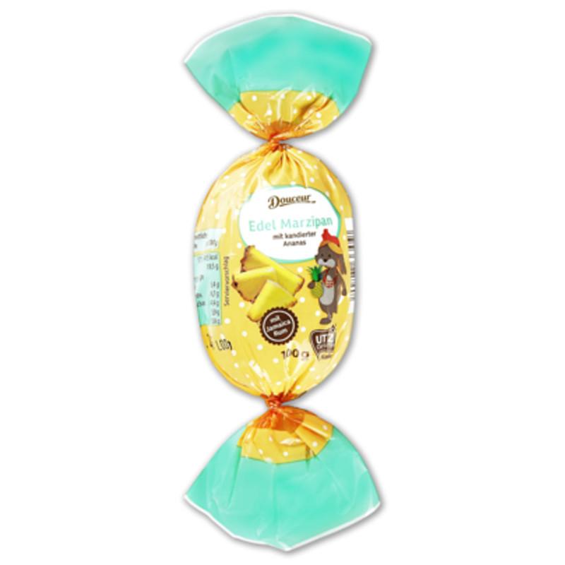 Марципановые конфеты Douceur c кусочками ананаса, 100 гр.