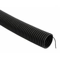 Гофра труба ПВХ D20 мм с протяжкой черная (100м)