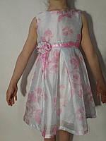 Платье нарядное белое для девочки р.3/4-7/8 F&D