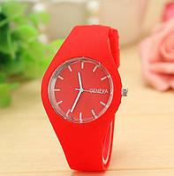 Женские наручные спортивные часы Geneva красные