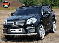 Детские электромобиль GL63 черный автопокраска, кожаное сидение, EVA колеса