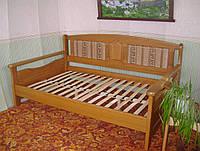 """Кровать полуторная """"Орфей - 2"""". Массив - сосна, ольха, береза, дуб"""