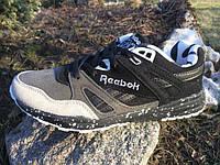 Кроссовки Reebok Ventilator Classic. Серый с черным. Шикарные. Вышитые буквы