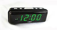 Электронные часы на светодиодах VST 738-2, работа от сети/батареек, функция памяти, будильник