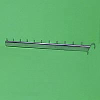 Кронштейны хромированные на перемычку 45 см, 11 штырей