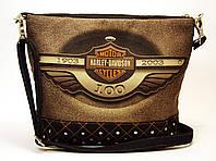 Джинсовая стеганная сумочка HARLEY 4