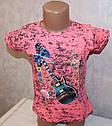 """Летняя футболка на девочку """"Гитара"""" 5,6,7,8 лет 100 % хлопок, фото 2"""