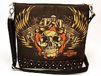 Джинсовая стеганная сумочка HARLEY 5