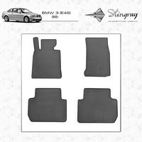 Комплект резиновых ковриков Stingray для автомобиля  BMW 3 (Е46) 1998-2005    4шт.