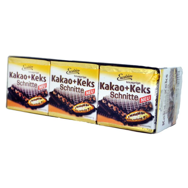 Вафлі Excelsior Kakao Keks Schnitte з какао, 220 грам