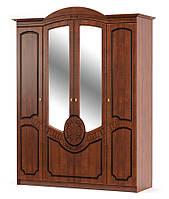 Распашной шкаф на четыре двери. Модель Барокко от фабрики Мебель-Сервис