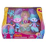 Ігровий набір Тролі Модні близнюки Сатинка і Синелька 23см DreamWorks Trolls Satin and Chenille's, фото 3