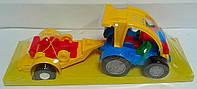 Машинка для малышей Авто-багги с прицепом 39227 Wader Польша