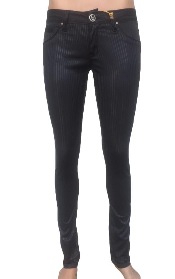 Эластичные черные джинсы ом 9808