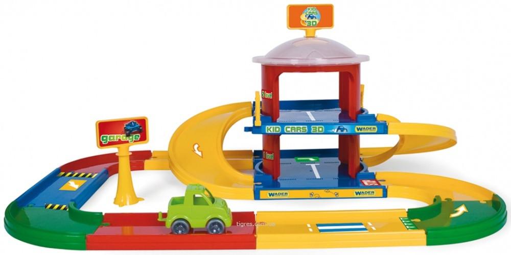 Kid Cars 3D дитячий гараж 2 поверхи з дорогою 3,4 м (53020)