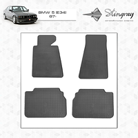 Комплект резиновых ковриков Stingray для автомобиля  BMW 5 (E34) 1987-1995   4шт.