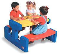 Большой пикниковый столик синий Little Tikes 4668