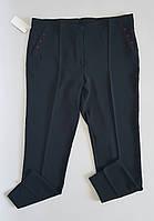 Женские черные брюки  классического кроя супер батал