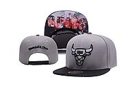 Кепка Mitchell & Ness NBA Chicago Bulls Snapback Grey/Black