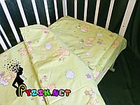 Постельный набор в детскую кроватку (3 предмета) Мишки На Облаке Салатовый