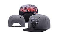 Кепка Mitchell & Ness NBA Chicago Bulls Snapback Dark Grey/Black
