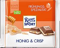Шоколад Ritter Sport Honig&Crisp (Риттер Спорт с медом и кукурузными хлопья), 100 г