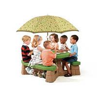 Детский Столик для Пикника с Зонтиком Step2