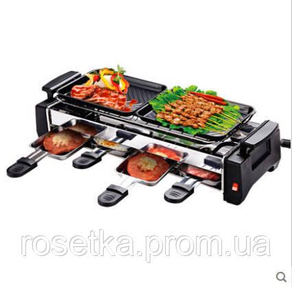 Электрический гриль-барбекю Electric and Barbecue Grill HY9099А, домашний электрогриль