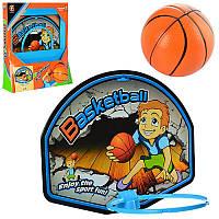 Баскетбольное кольцо M 2903 (18шт) щит36,5-28,5см,мяч фомов10см,подвеш на дверь,в кор-ке,39,5-37-7см