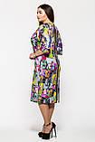 Женское  платье большие размеры  Эмма пепельная, фото 2