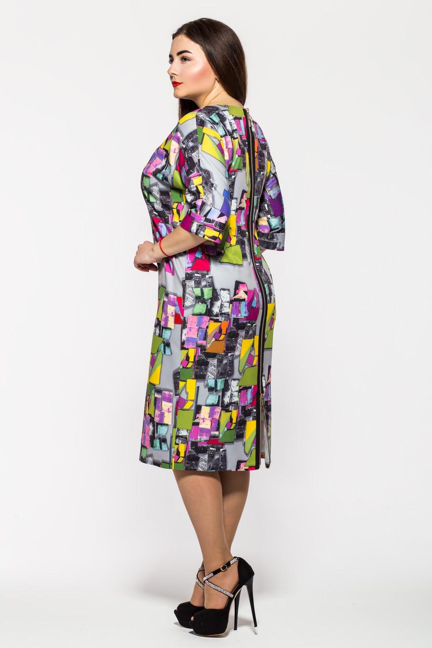 d9014071f36 Женское платье большие размеры Эмма пепельная - 514839337